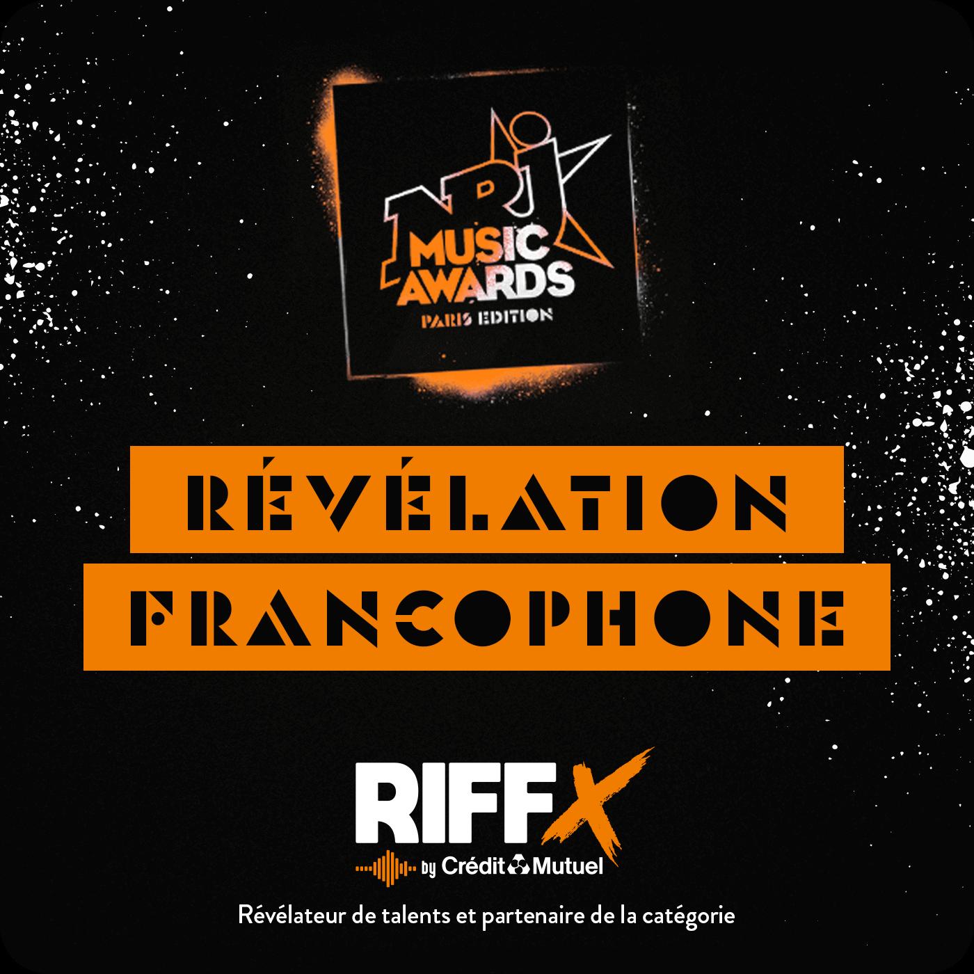 Révélation Francophone de l'Année avec RIFFX